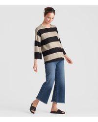 Eileen Fisher - Organic Linen Knit Stripe A-line Top - Lyst