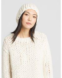 Eileen Fisher - Handknit Peruvian Alpaca Hat - Lyst