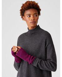 Eileen Fisher Merino Glovelettes - Purple