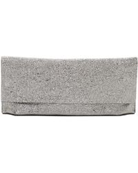 Eileen Fisher - Crackle Coated Leather Fold-over Clutch - Lyst