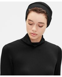Eileen Fisher Terry Slouchy Hat - Black
