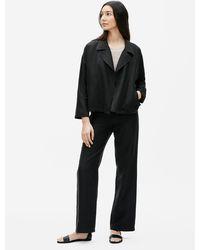 Eileen Fisher Organic Linen Slub Jacket - Black