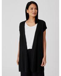 Eileen Fisher Organic Linen Cotton Vest - Black