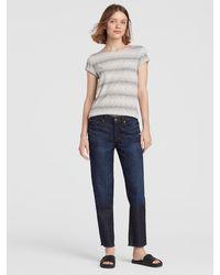 Eileen Fisher High Rise Organic Cotton Stretch Jean - Blue