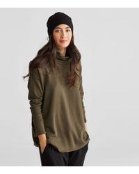 Eileen Fisher Stretch Fleece Slouchy Hat - Black
