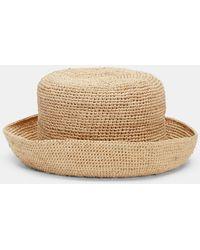 Eileen Fisher Mar Y Sol Crocheted Raffia Sun Hat - Natural