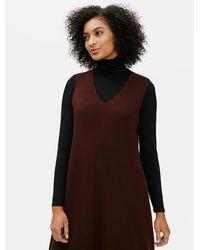 Eileen Fisher - Luxe Merino Stretch Dress - Lyst