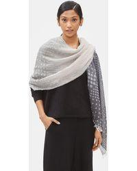 Eileen Fisher Organic Cotton Dot Wrap - Gray