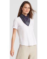 Eileen Fisher | Handstitched Organic Cotton Bandana | Lyst