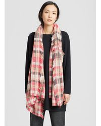 Eileen Fisher - Handwoven Peruvian Organic Cotton Plaid Wrap - Lyst