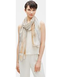 Eileen Fisher - Hand-painted Silk Scarf - Lyst
