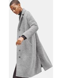 Eileen Fisher Sheared Suri Alpaca Boxy Coat - Gray