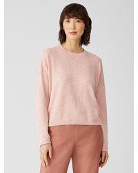 Eileen Fisher Organic Cotton Linen Slub Box-top - Pink