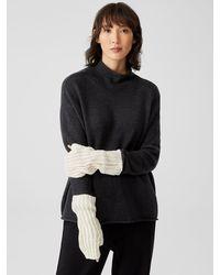 Eileen Fisher Peruvian Organic Cotton Crimp Glovelettes - Multicolor