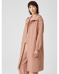 Eileen Fisher Recycled Polyester Hooded Coat - Multicolor