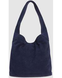 Eileen Fisher - Italian Suede Hobo Bucket Bag - Lyst