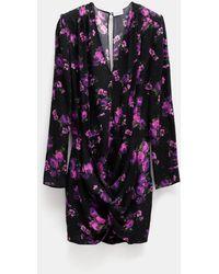 Magda Butrym Pesaro Floral Print Dress - Black