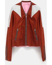 Rick Owens Colour-block Jacket - Brown