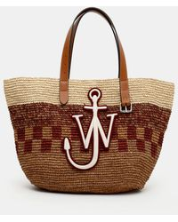 JW Anderson Basket Belt Tote - Brown