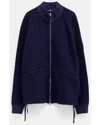 Stone Island Shadow Project Wool Cotton, Garment Dyed_chapter 1 - Blue
