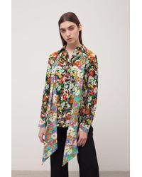 Gucci Wildflowers Print Pintuck Shirt - Multicolor