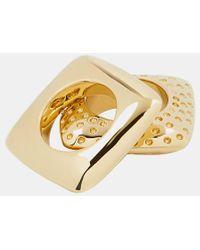 Givenchy Graphic Ring Set - Metallic
