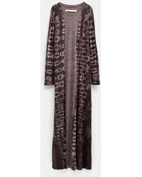 Raquel Allegra Classic Shirt Dress - Purple
