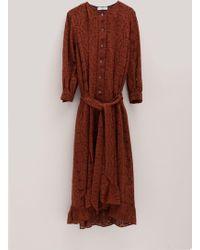 Roseanna Geometric Palerme Dress - Red