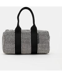 Alexander Wang Rhinestone Mini Duffle Bag - Metallic