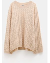 Totême - Cable Knit Sweater - Lyst