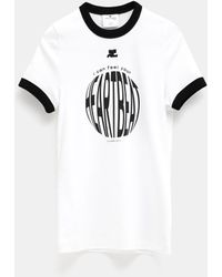 Courreges Heart Beat T-shirt - White