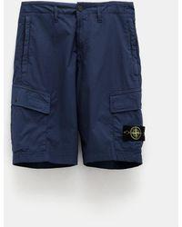 Stone Island Men's Cargo Shorts - Blue