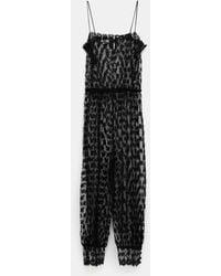 Gucci Black Floral Lace Jumpsuit