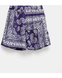 Aries Bandana Print Board Unisex Shorts - Blue