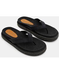 Jacquemus Les Tatanes Blé Flip Flops - Black