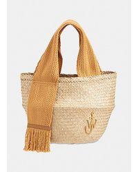 JW Anderson Straw Basket Bag - Natural