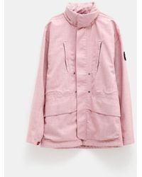Stone Island Shadow Project Poly Wool Diagonal 3l Chapter 1 Jacket - Pink