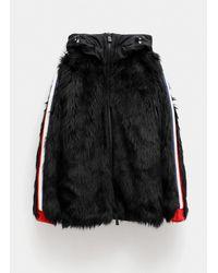 3 MONCLER GRENOBLE Faux Fur Jacket - Black