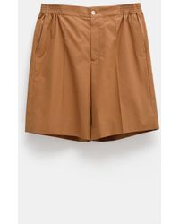 Gucci Pleated Bermuda Shorts For Men - Natural
