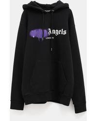 Palm Angels - Sprayed Logo Hoodie - Lyst