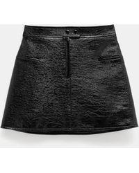 Courreges Vinyl Skirt - Black