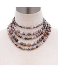 Elaine Turner - Toni Necklace In Brown - Lyst