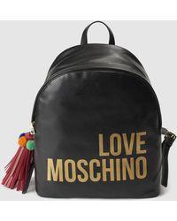 Love Moschino Mochila De Mujer En Negro Con Borla Decorativa