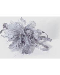 El Corte Inglés Gray Hairband Fascinators With Bow And Feathers