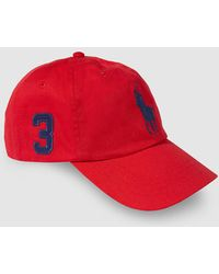 Lyst - Polo Ralph Lauren Logo Embroidered Cap in Blue for Men 85c0bce87b28