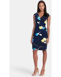 Lauren by Ralph Lauren - Floral V-neck Dress - Lyst