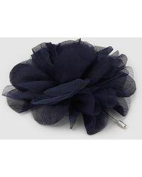 El Corte Inglés Navy Blue Chiffon Flower Fascinator