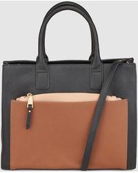 El Corte Inglés - Black Handbag With Contrasting Pocket - Lyst