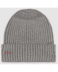 8874ee3a6 Grey Knit Hat With Lurex - Gray