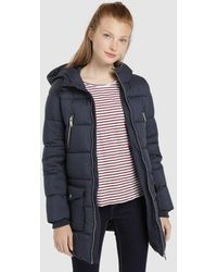 Green Coast Long Quilted Coat - Blue